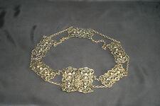 Belle ceinture ancienne métallique laiton ou bronze ciselée