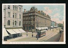 Wales Glamorgan Glam CARDIFF Queen St Tram Park Hall Buildings pre1919 PPC