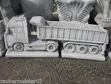 VOLVO LKW mit Anhänger Lastwagen mit Aufleger Steinguss massiv Pflanzgefäß neu