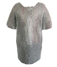 NEW Medieval Knight Battle Armor Black Steel Handmade Chain Mail Shirt