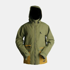 RIDE Snowboards Men's NORTHLAKE Snow Jacket - Army Green / Gold - Small - NWT