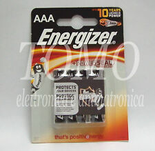 4 Batterie alcaline 1,5V ENERGIZER modello AAA mini stilo in blister