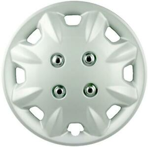 """QUALITY 13"""" GEARX WHEEL COVERS SILVER SIBON SET OF 4"""