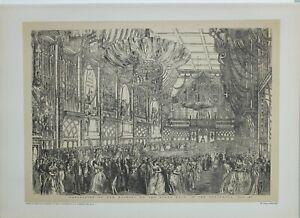1886 London Guildhall Aufdruck Procession Sie majesty Zustand Ball Juli 1851
