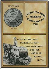 Furphys Farm Water Cart  Metal Repro Sign WAR216