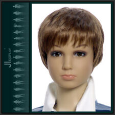 Kinder Perücke Wig B3 Kinderpuppen Mannequin Schaufensterpuppe Junge Haare Braun