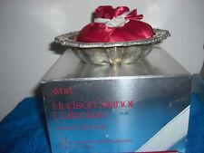 Vintage Avon Hudson Manor Silverplated Dish & Ariane fragranced sachet - 1978