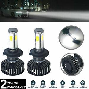 Pair H7 White LED Headlight bulb Kit Fog Light COB 72W For KIA Soul Rondo Sedona
