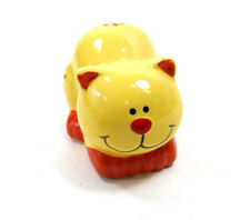Burton and Burton Yellow Cat Mini  Ceramic Piggy Bank