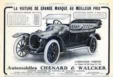 1913 Publicite Automobile CHENARD & WALKER 12 HP