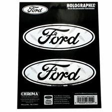 Original Ford Pflaume Logo Chrom Holographic Emblem Aufkleber Decal Sticker NEU