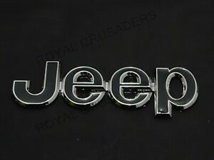 CHROME BLACK BADGE FRONT OR REAR EXCELLENT QUALITY FOR JEEP