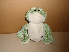 Webkinz Green Spotted Frog No Code Ganz Plush Stuffed Bean Bag Animal 9 IN