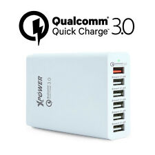 Xpower Smart Qualcomm 3.0 58W 6 Port Quick Charge Family Sized USB Charger White