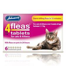 Johnsons 4Fleas Cat Flea Tablets 6 Pack Bulk Buys, Kills Fleas In 15 Minutes