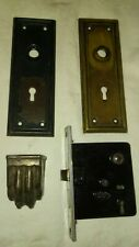 Antique Corbin hardware lot of 5 pic. Locks door lock pull vintage ornate Lock