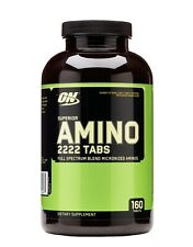 Optimum Nutrition Superior Amino 2222 Tabs Amino Acid BCAA 160 Tablets