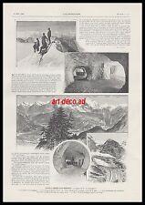 Document Anc. DANS L' OBERLAND  BERNOIS  - CHEMIN DE FER JUNGFRAU LUGE   1904