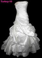 ORG $899 Pronovias Ivory 12 Formal Wedding Gown Dropped Waist Dress