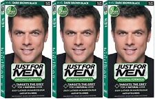 3 x Just For Men Hair Colour Original Formula Shampoo-in Men's Hair Dyes