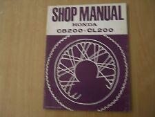 Officina Manuale Honda CB 200 CL 200 1973 Repair negozio service manual