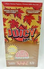 1 Box Juicy Jay'S 1 1/4 Rolling Papers Maple Syrup 24 Packs Free Shipping
