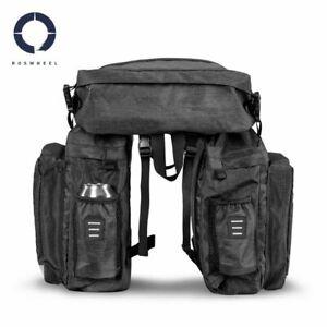 Roswheel Essentials 3-in-1 Cycling Triple Pannier Bag Set - 40L (141476)
