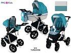 Baby Pram Pushchair Buggy Stroller + Car Seat, Modern Travel System 3in1 - 4in1