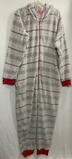 MACY'S Family Mens Holiday One Piece Hooded Fleece Pajama Footed PJs XXL