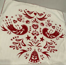 Ikea VINTER 2016  Couch Pillow Cushion Cover Red White Birds