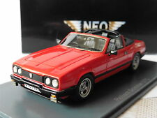 RELIANT SIMITAR GTC 1980 RED NEO 43750 1/43 ROSSO ROT RHD ROUGE OPEN ROOF