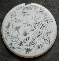 ALICE COOPER - IRON MAIDEN - DEF LEPPARD - POISON SIGNED AUTOGRAPH DRUMHEAD DH5