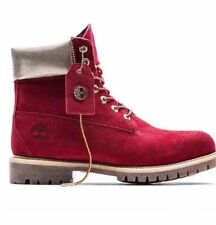 "TIMBERLAND Wmns LIMITED EDITION NAUGHTY OR NICE 6"" PREMIUM BOOTS SIZE 7 RED BOOT"