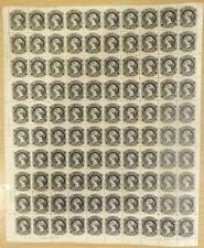 SG 18 Nova Scotia 1860 - 63. 1 cent Black sheet off 100 with full margins....