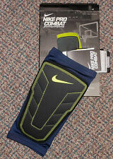 Nike sz L Pro Combat Hyperstrong Compression Shin Sleeve New $30 613977 410 Navy