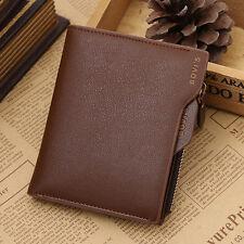 Herren Geldbeutel Portemonnaie Leder Geldbörse Brieftasche Geldbeutel Geschenk#