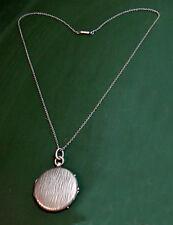 Erstklassiges altes 800er Silber FOTO-MEDAILLON ~1920 • lange Silberkette