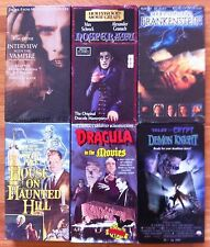 LOT OF 6 VHS HORROR MOVIES NOSFERATU DRACULA FRANKENSTEIN DEMON KNIGHT VAMPIRE