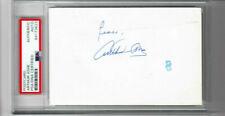 Arthur Ashe Signed postcard  PSA  Slabbed authentic w/ Peace Inscription