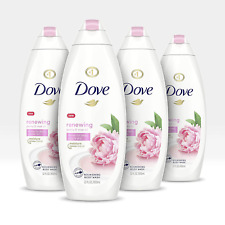 Dove Body Wash Peony Rose Oil Paraben Free Sulfate Free 22 Fl Oz, Pack of 4