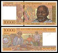 MADAGASCAR 10,000 10000 FRANCS   A : prefix  1995 P 79 UNC ***
