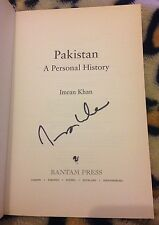 Imran Khan firmado una historia personal H/B Libro Sport autógrafo Cricket la política