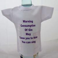 Bottle / miniture T-Shirt for gin drinker ideal gift for birthday