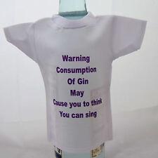 Bottle / miniature T-Shirt for gin drinker ideal gift for birthday
