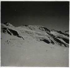 Suisse Alpes Montagne Photo G16 Plaque de verre Stereo Vintage