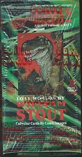DINOSAUR TRADING CARD SEALED WAX PACK DISPLAY BOX WILLIAM STOUT COMIC BOOK IMAGE