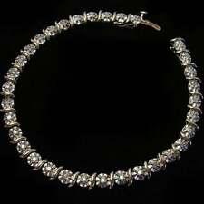 BEAUTIFUL, ELEGANT, 9CT GOLD & 0.30 CARAT DIAMOND 'TENNIS' BRACELET