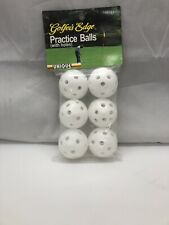 Official Size-Hollow Practice Golf Balls (6 Balls Included)
