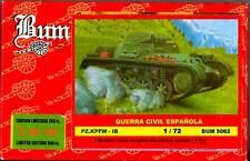 BUM Models 1/72 PANZER IB TANK (2) & 5 SOLDIERS Spanish Civil War Figure Set