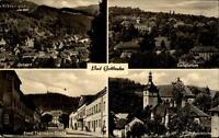 Bad Gottleuba alte DDR Mehrbildkarte 1965 Sanatorium Petrikirche Gesamtansicht